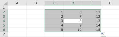 Ctrlキー+Aでデータ群をすべて範囲選択