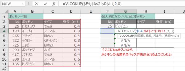 VLOOKUP関数で絶対参照する(G3の数式をコピーする)