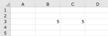 Excelでの足し算のやり方手順(例のイメージ)