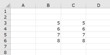 Excelでの足し算で相対参照をつかうパターン(例のイメージ)