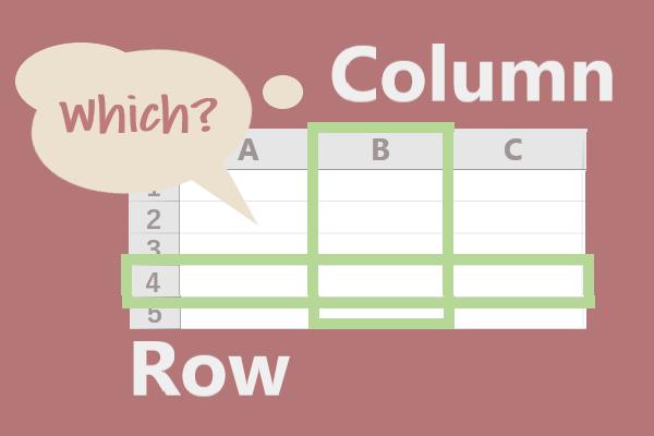【初心者向け】Excelエクセルの「行」と「列」どっちが縦でどっちが横?